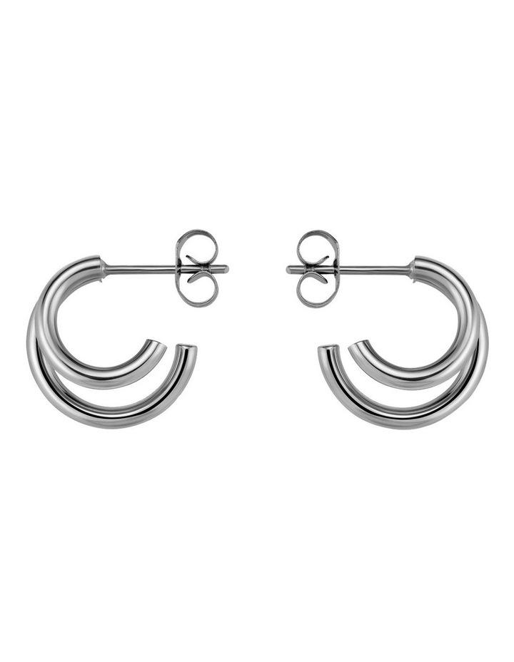 Lois Double Hoop Small Earring image 3
