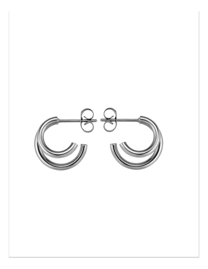 Lois Double Hoop Small Earring image 3