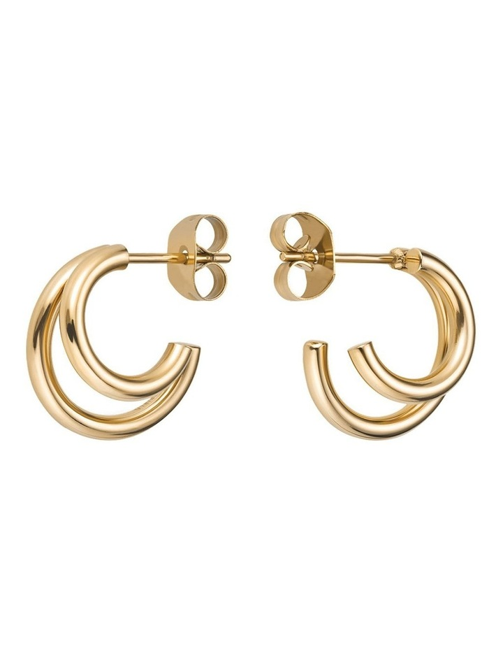 Lois Double Hoop Small Earring image 1