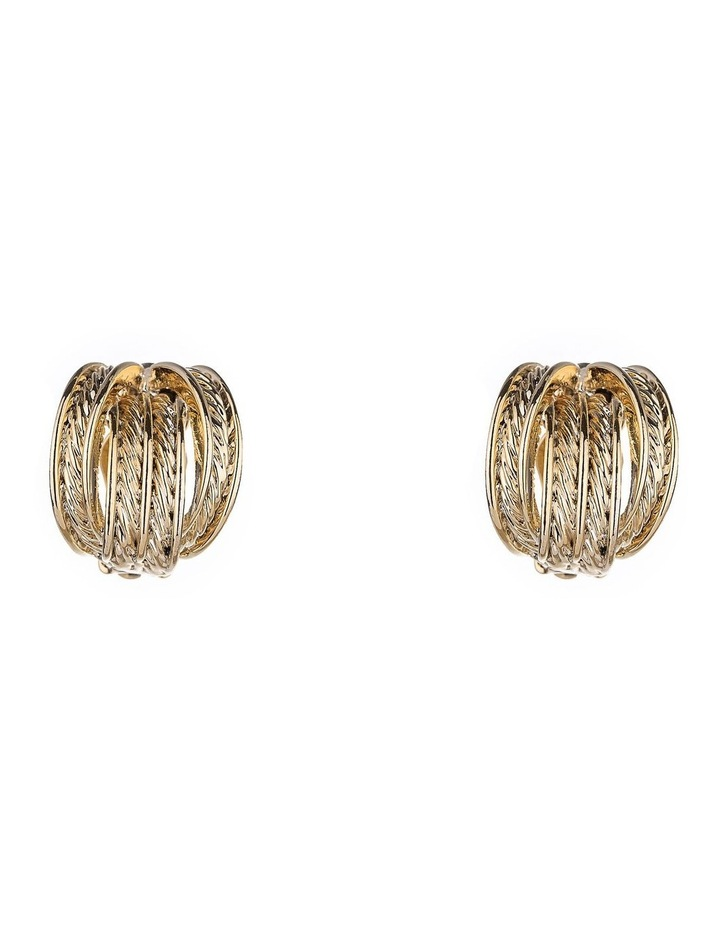 Four Band Clip Earring image 1
