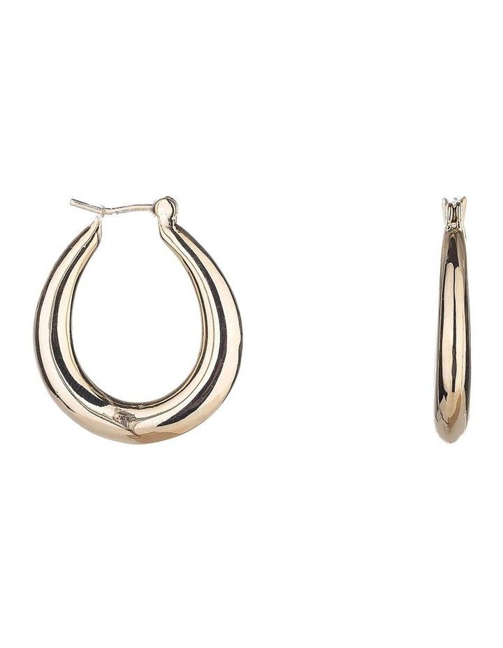Oval Hoop Earring image 2