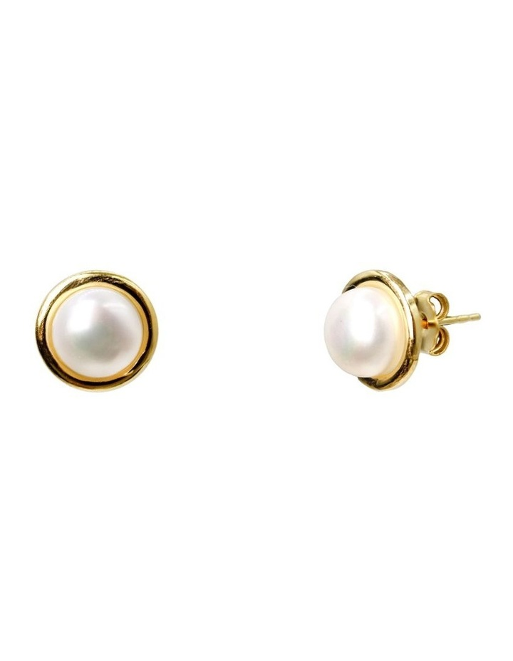 14ct Gold Plate Halo Stud Earrings image 3