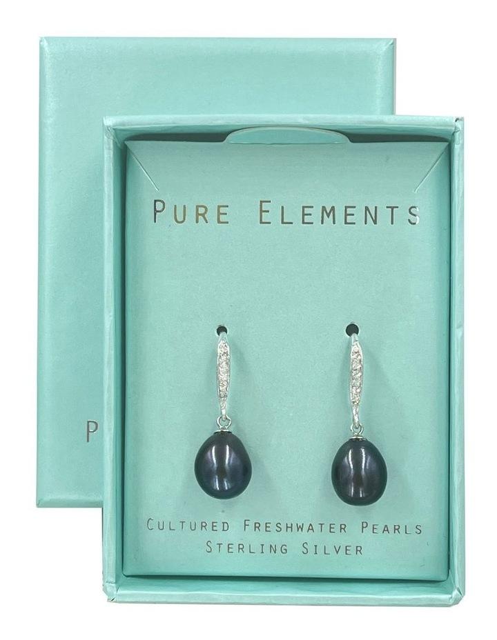 Elegant Peacock Black Pearl Drop Earrings image 3