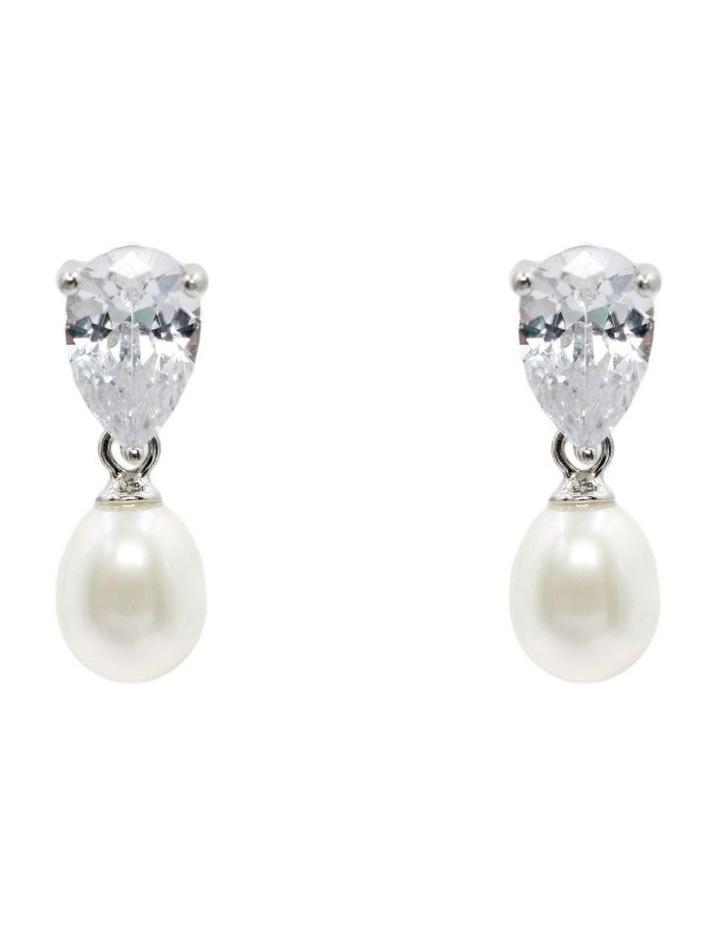 Sparkle & Shine Pearl Drop Earrings image 1