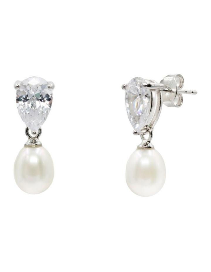 Sparkle & Shine Pearl Drop Earrings image 3