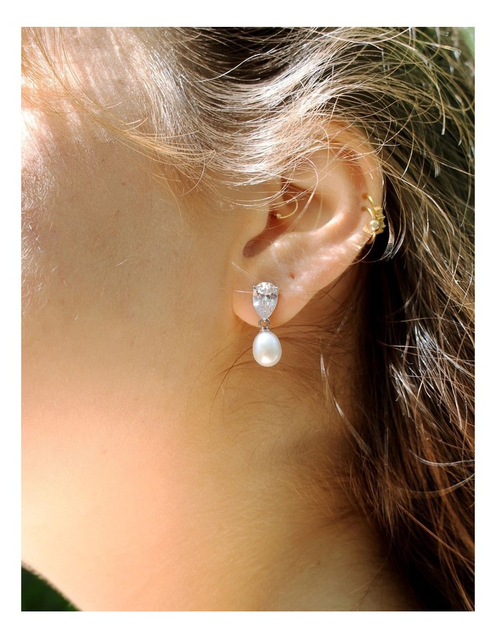 Sparkle & Shine Pearl Drop Earrings image 4