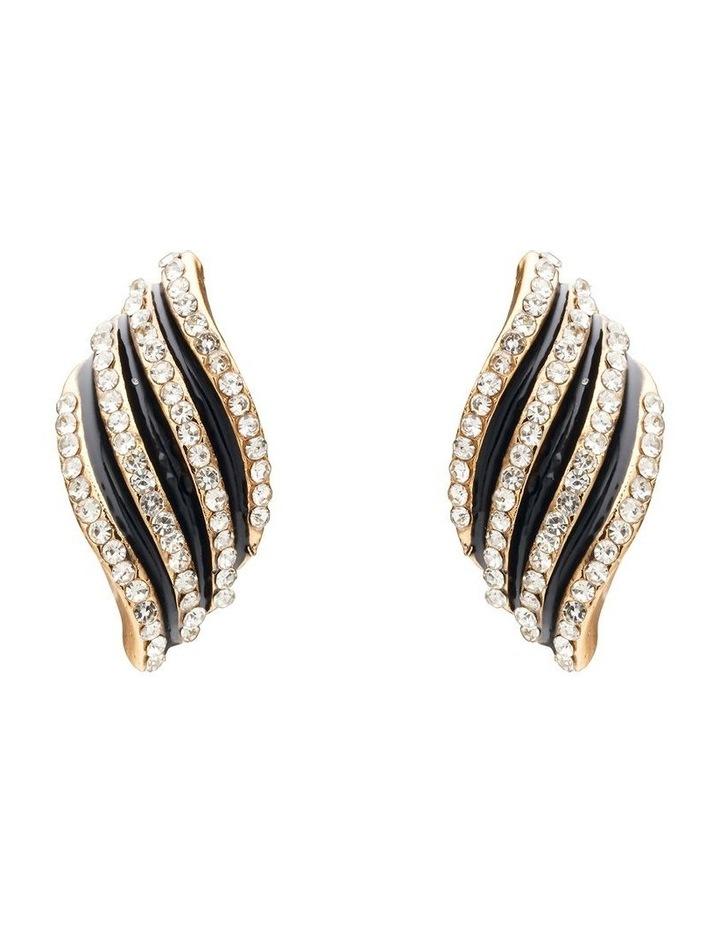 Textured Wave Earrings image 1