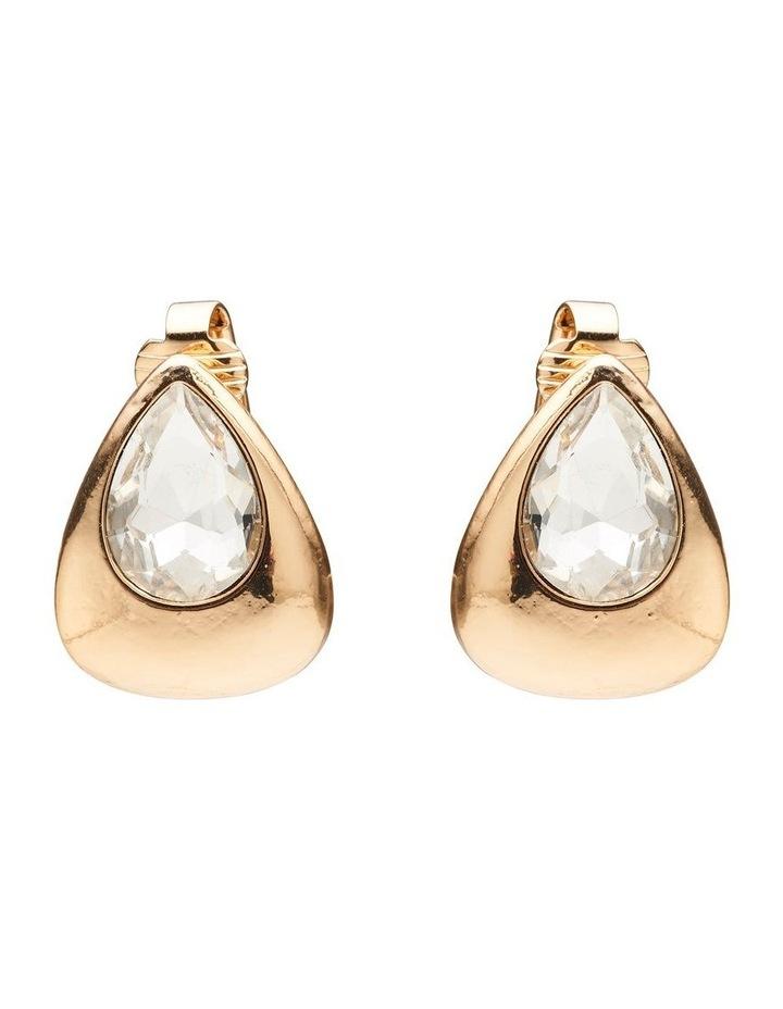 Crystal Pear Earrings image 1