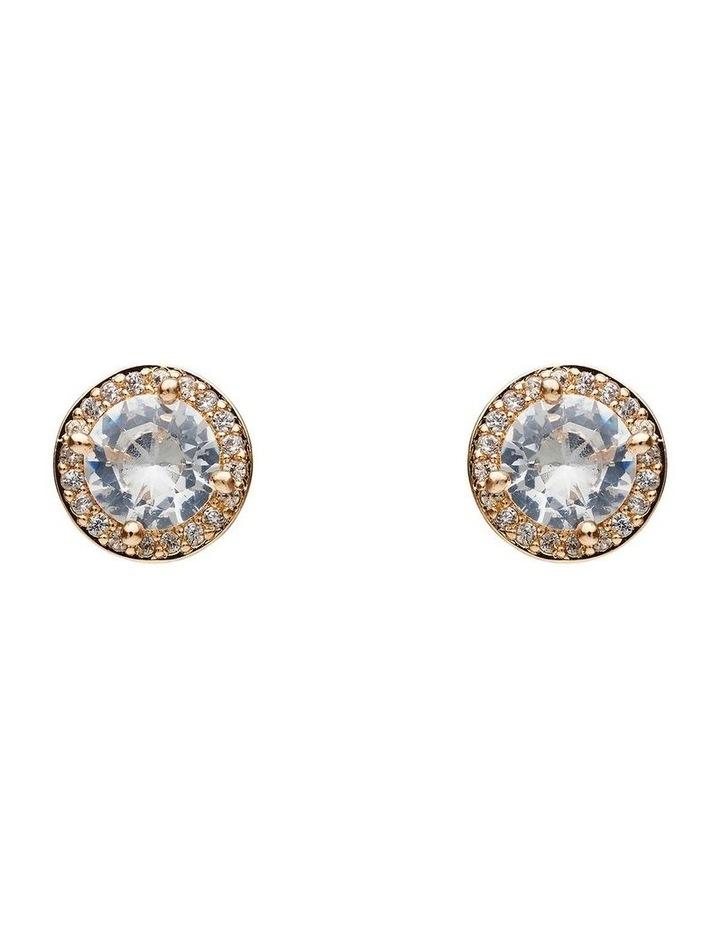 Multi Stone Solitiare Earrings image 1