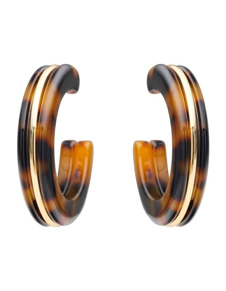 Mottled Resin Hoop Earrings image 1