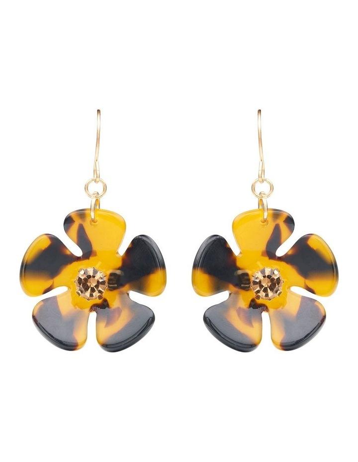Resin Floral Earrings image 1
