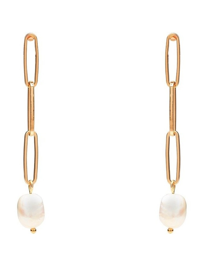 Fresh Water Pearl Link Earrings image 1