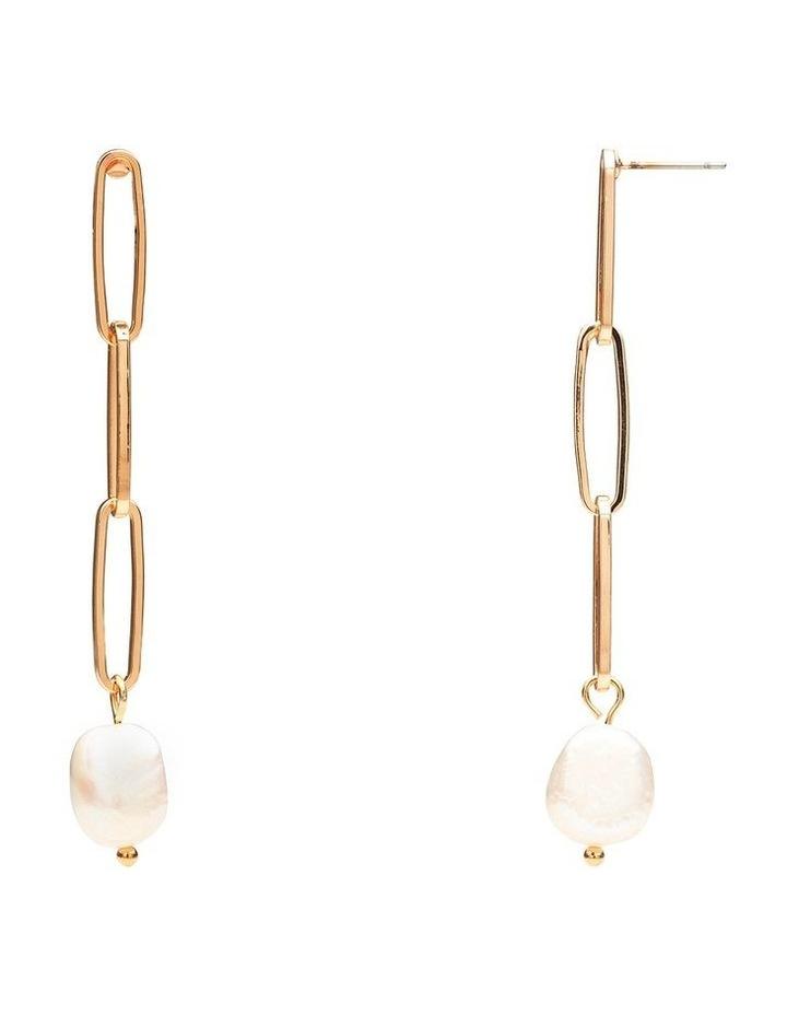 Fresh Water Pearl Link Earrings image 2