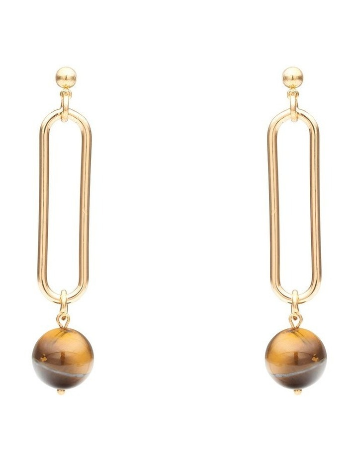 Sleek Drop Earrings image 1
