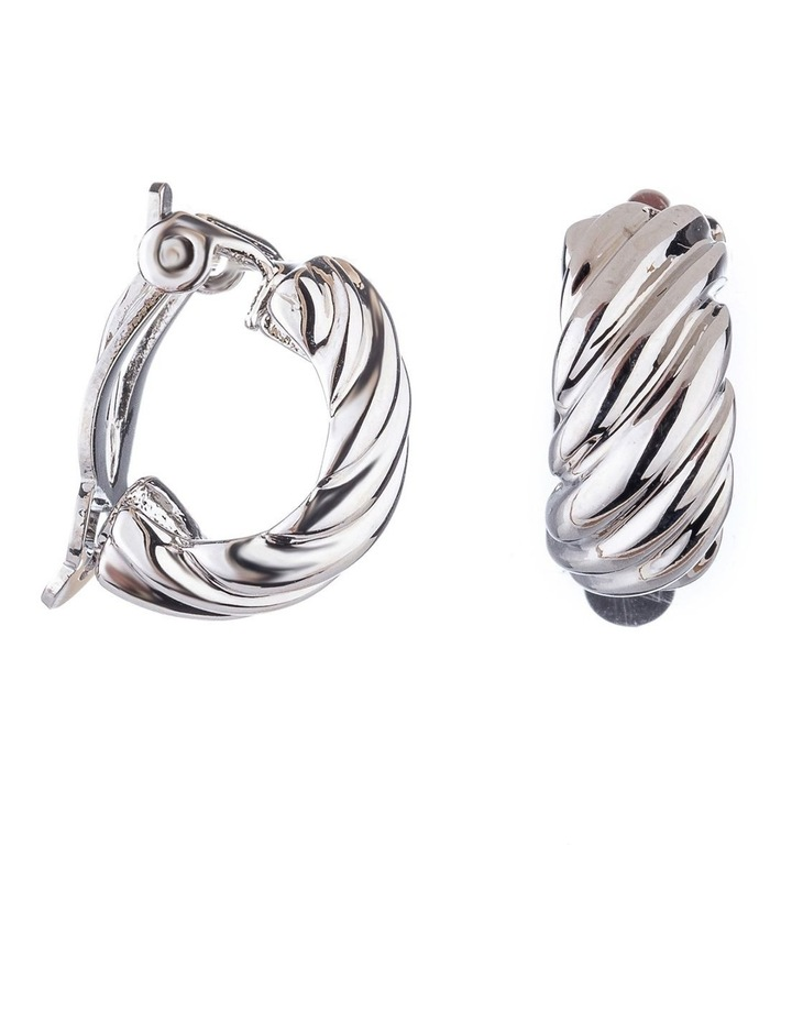 Textured Clip Earrings image 2
