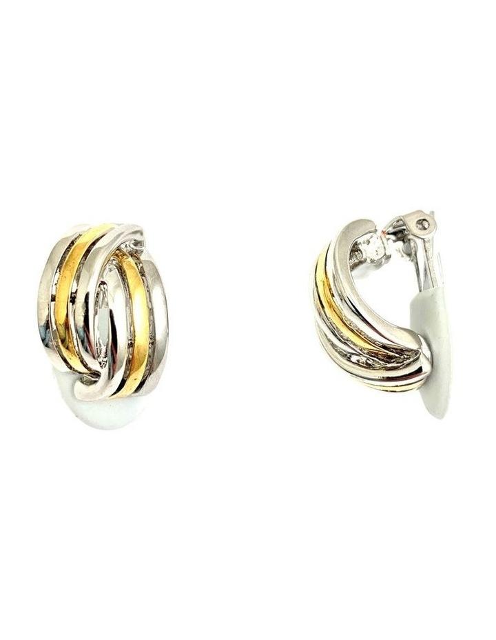 Two/Tone Clip Earrings image 2