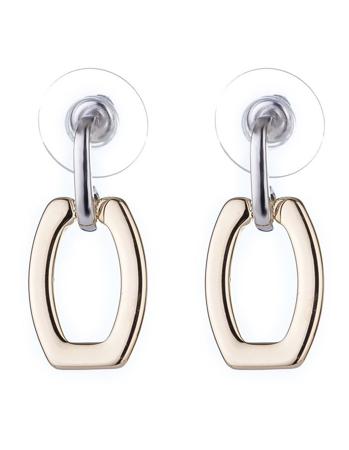 2 Tone Drop Earrings image 1