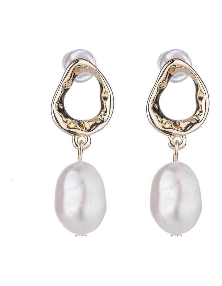 Drop Freshwater Pearl Earrings image 1