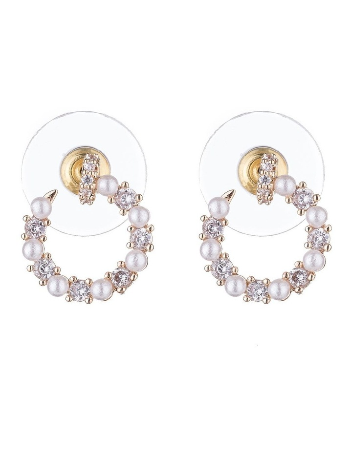 CZ & Pearl Earrings image 1