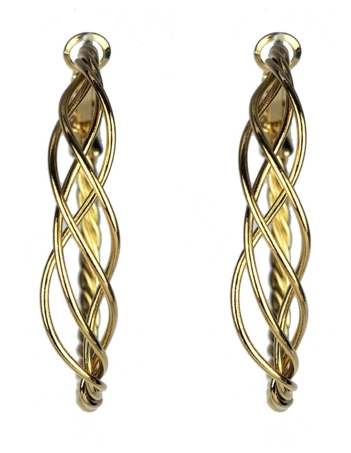 Twisted Hoop Earrings image 1