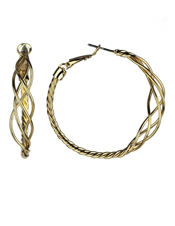 Twisted Hoop Earrings image 2