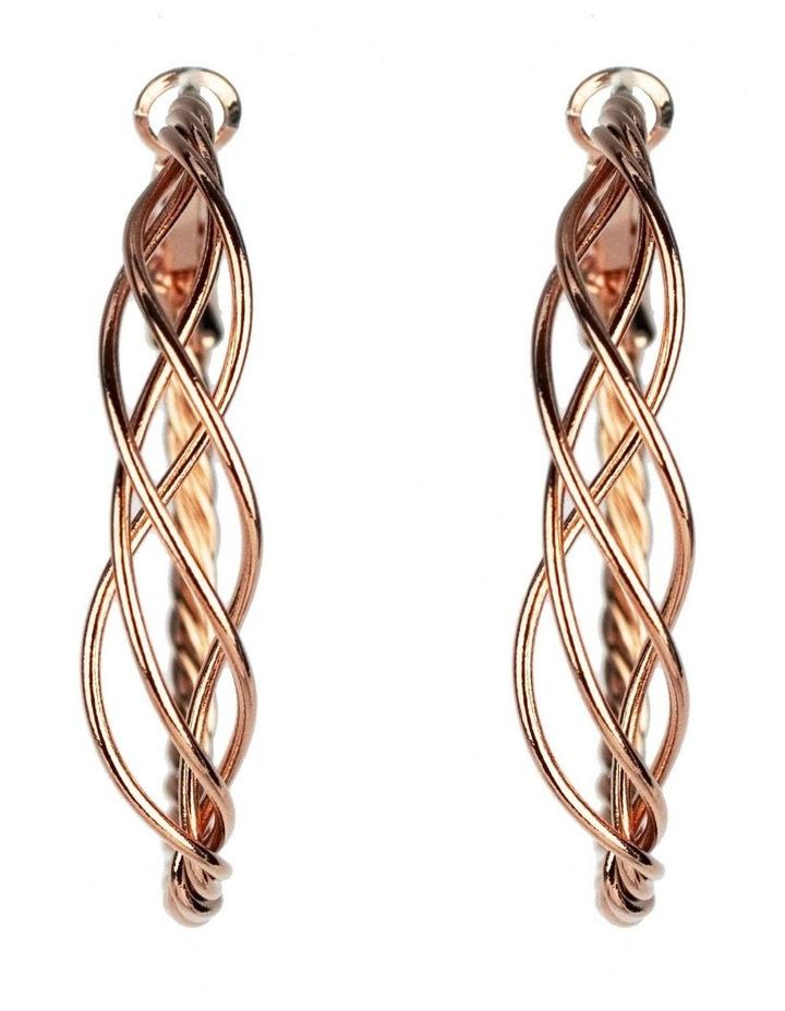 Twisted Hoop Earrings image 1