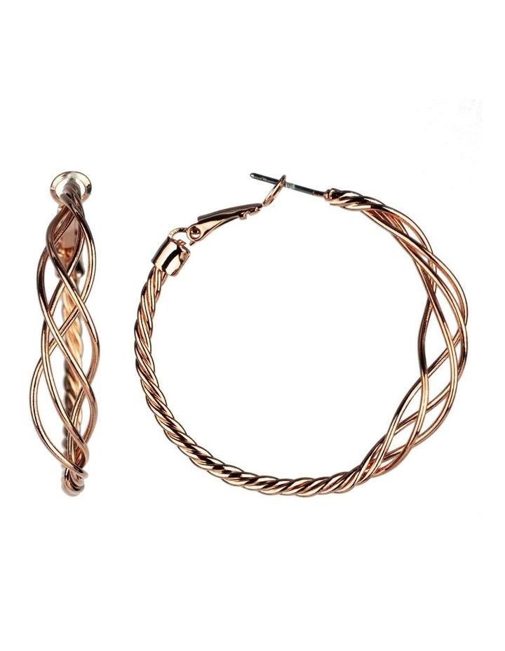 Twisted Hoop Earrings image 2