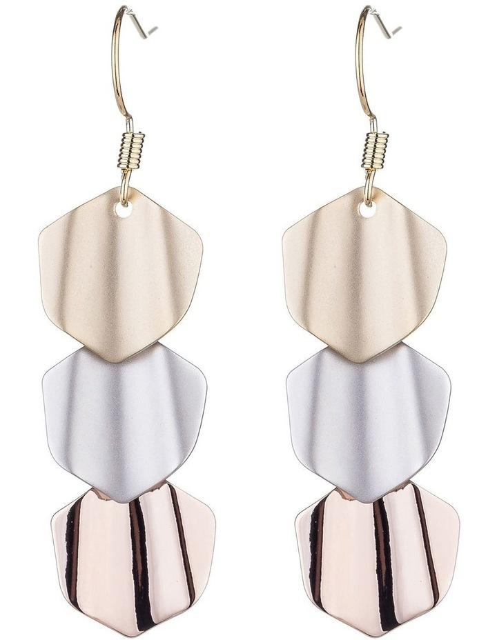 Drop 3 Tone Earrings image 1