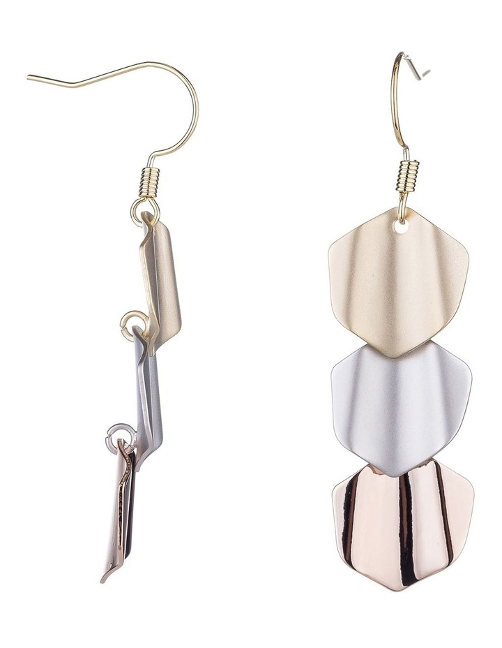 Drop 3 Tone Earrings image 2