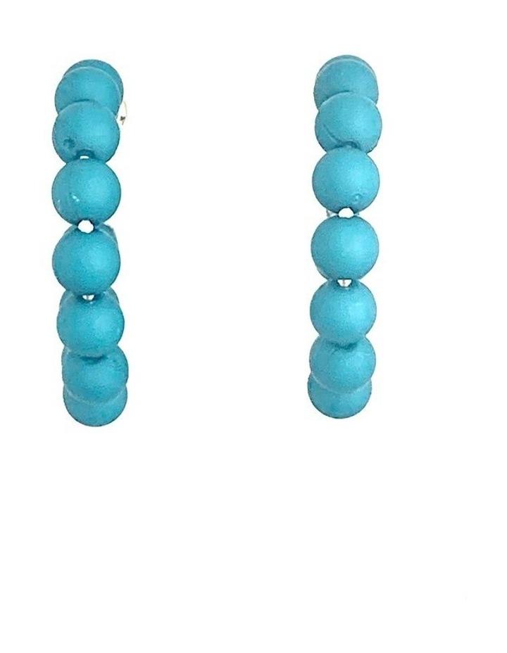 Small Matt Hoop Earrings image 1