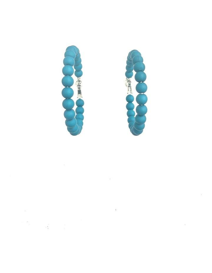 Large Matt Hoop Earrings image 1