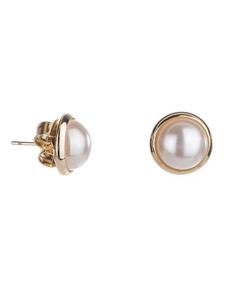 Dome Pearl Earrings image 2