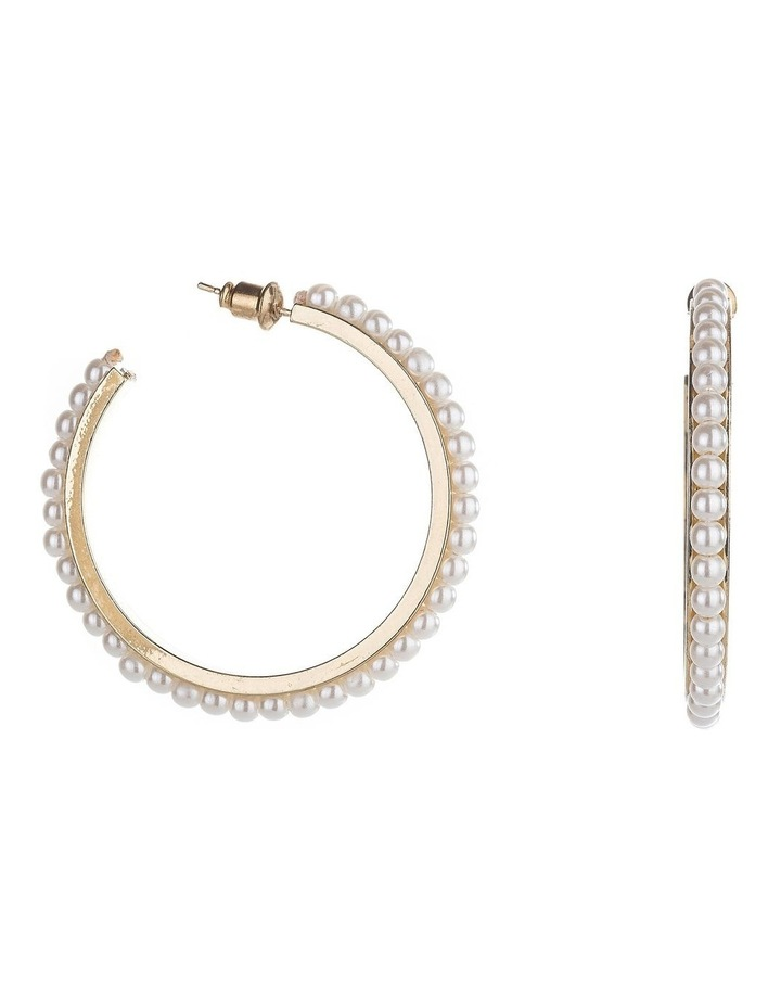 Pearl Hoop Earrings image 2