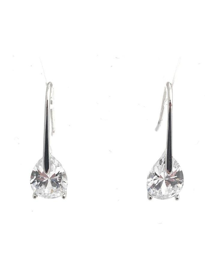 CZ Drop Earrings image 1