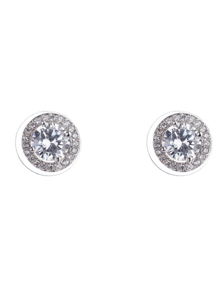 Large CZ Stud Earrings image 1