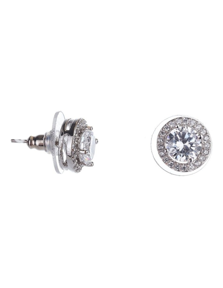 Large CZ Stud Earrings image 2