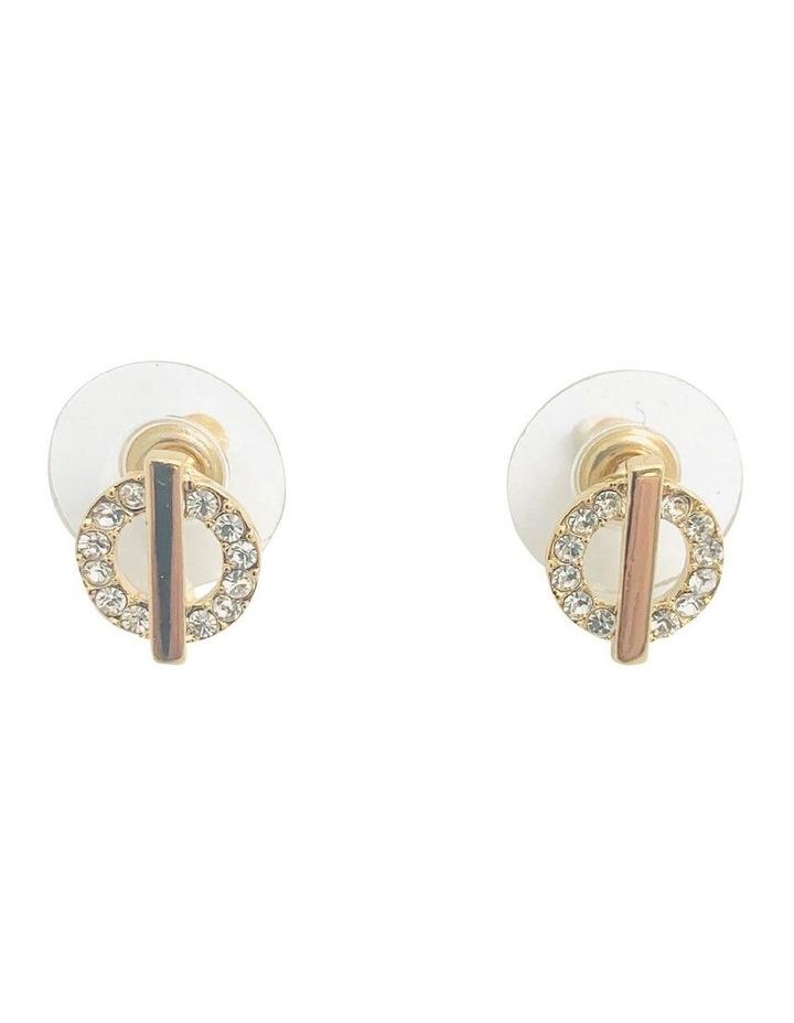 CZ Circle Stud Earrings image 1