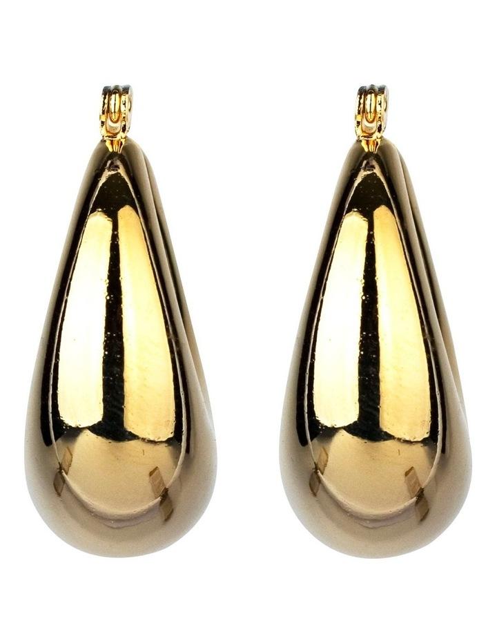 Oval Hoop Earrings image 1