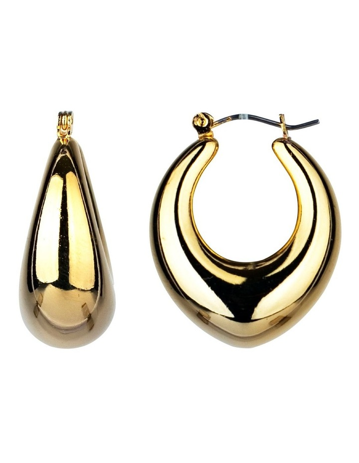 Oval Hoop Earrings image 2