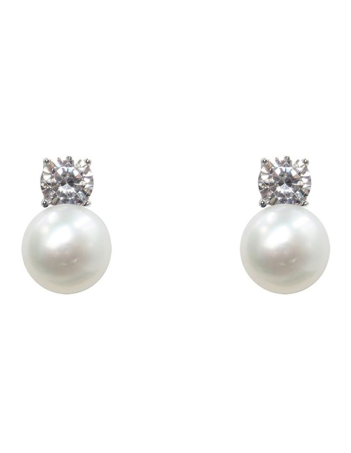 Simply Brilliant Pearl Earrings image 1