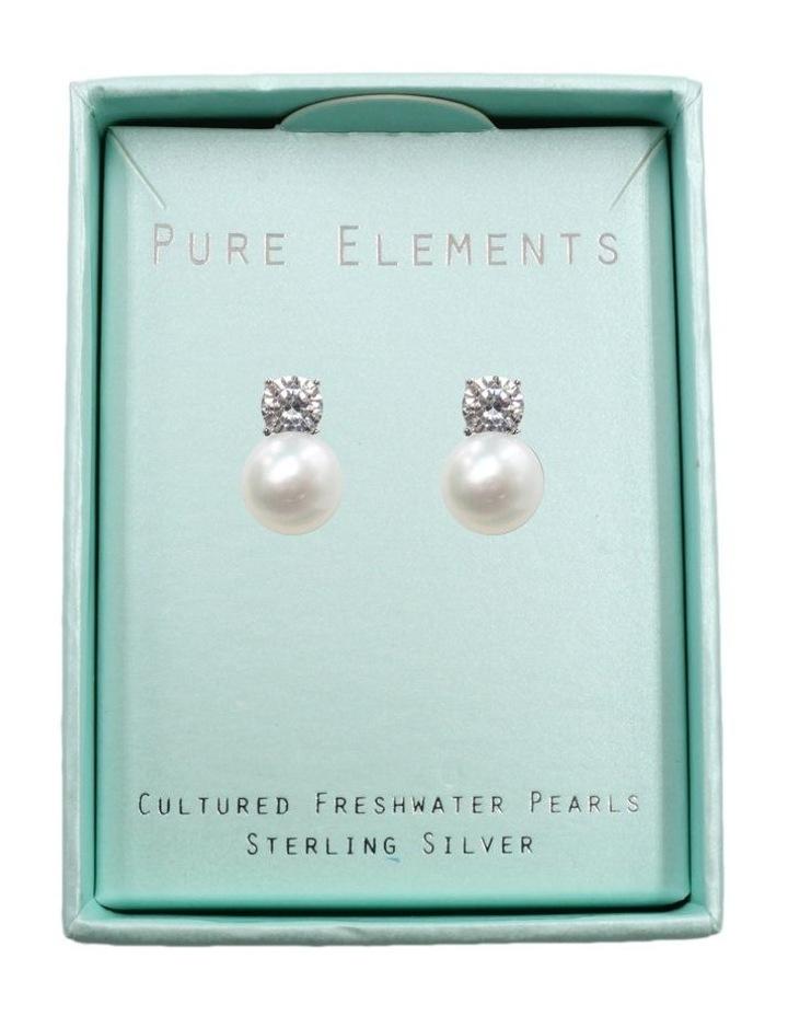 Simply Brilliant Pearl Earrings image 3