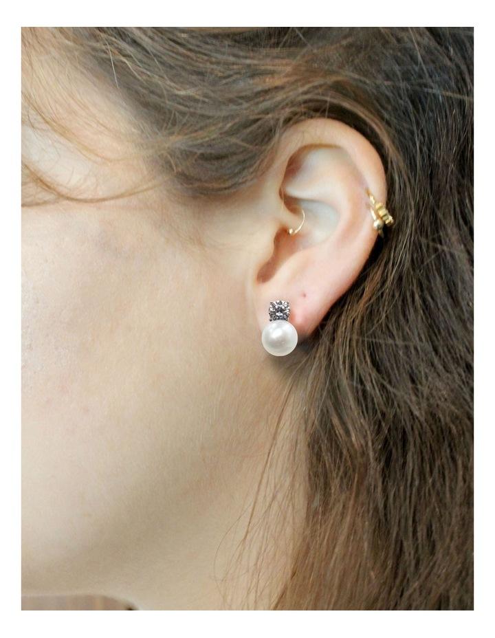 Simply Brilliant Pearl Earrings image 4