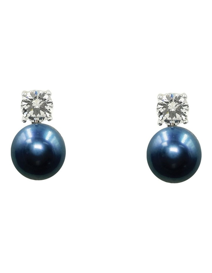 Simply Brilliant Black Pearl Earrings image 1