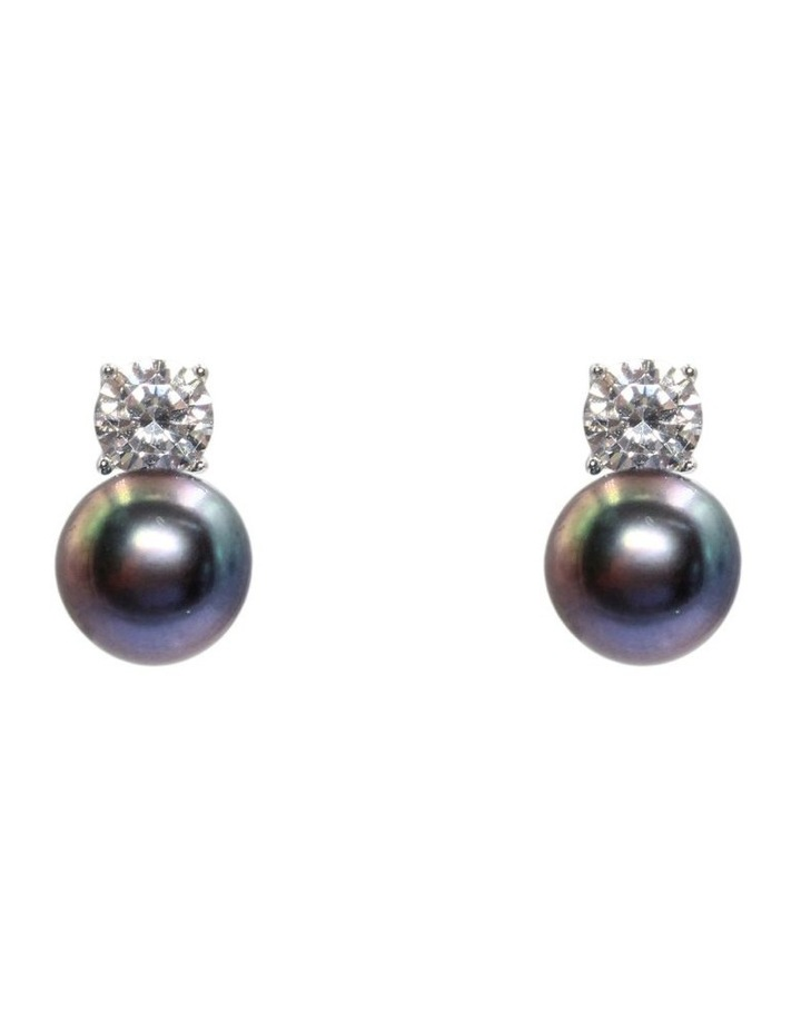 Simply Brilliant Black Pearl Earrings image 1