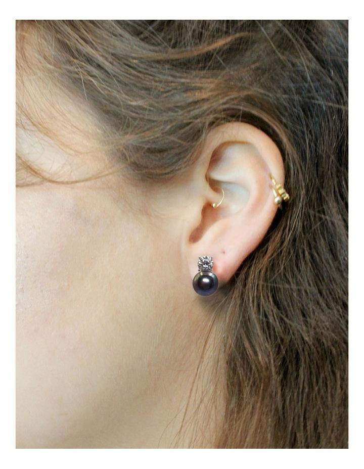 Simply Brilliant Black Pearl Earrings image 2