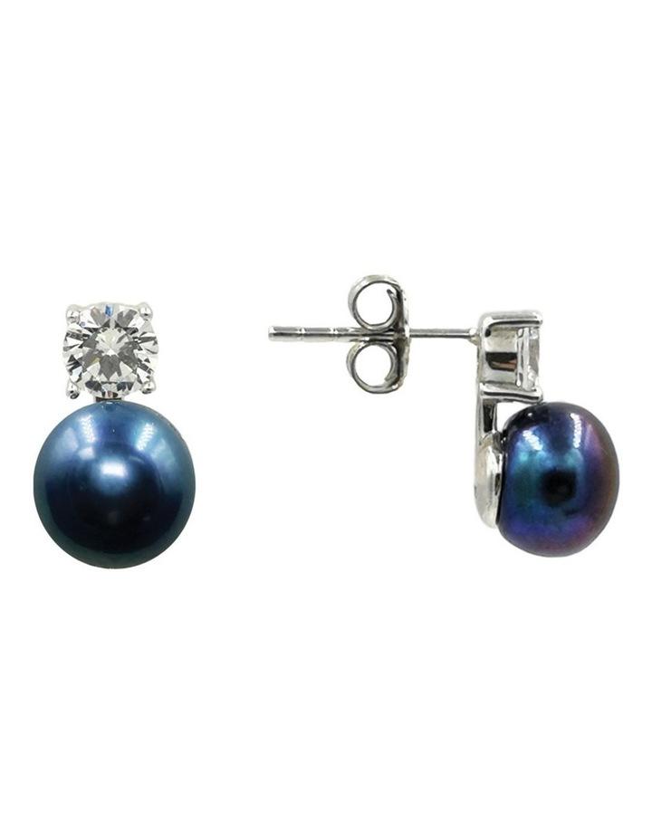 Simply Brilliant Black Pearl Earrings image 3