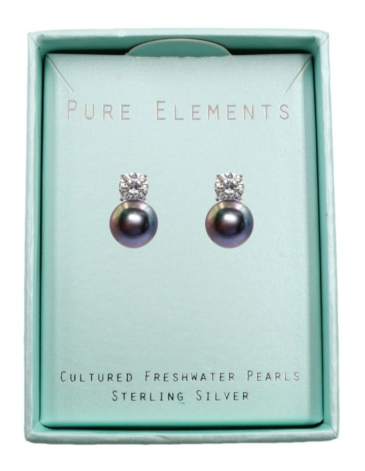 Simply Brilliant Black Pearl Earrings image 3