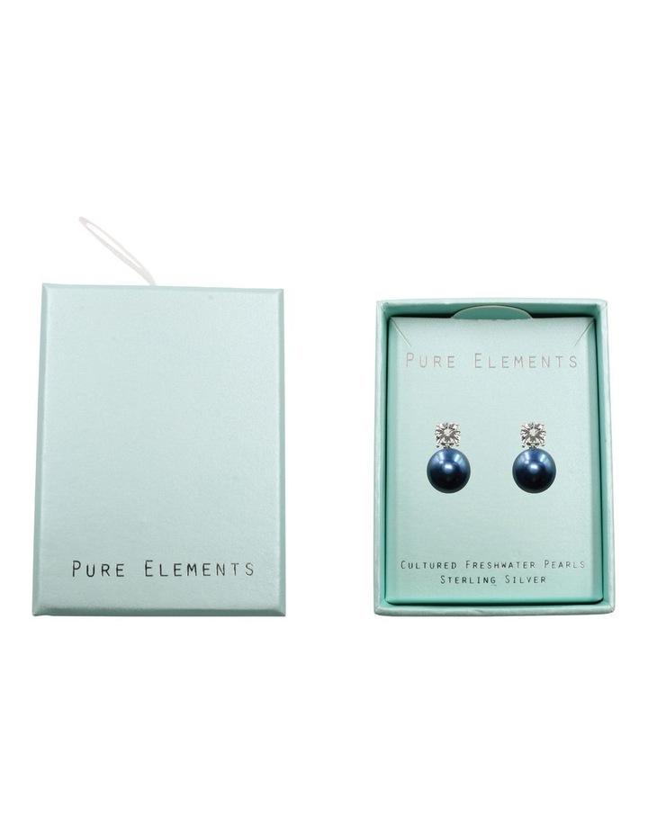Simply Brilliant Black Pearl Earrings image 4