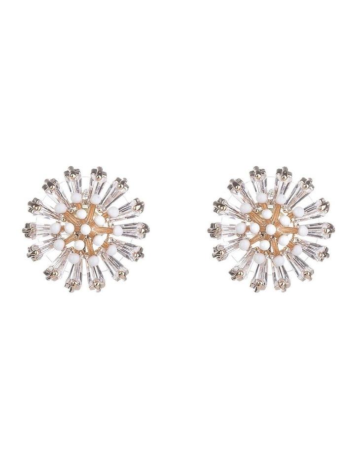Flower Glass Crystal Earrings image 1