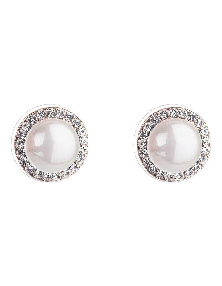 Pearl Stud Earrings image 1